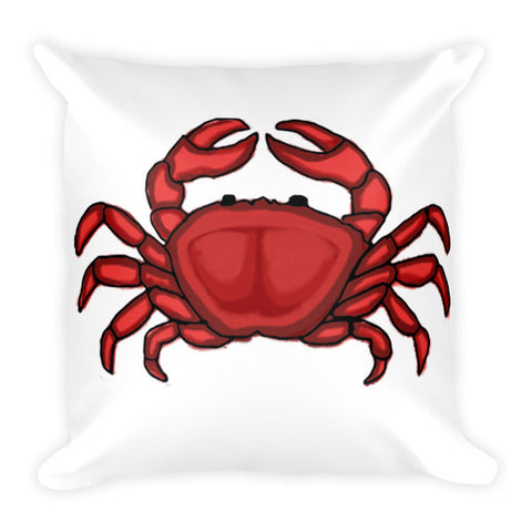 Coastal Collection Illustrated Crab Pillow