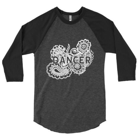 Dancer Zen Tangle 3/4 Sleeve Raglan Shirt