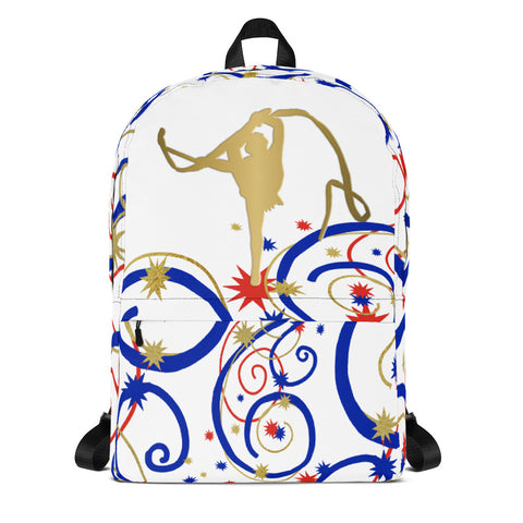 Rhythmic Gymnastics Gold Silhouette Backpack-Style 2