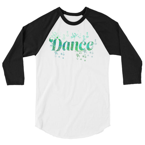Dance Water Color Inspired Silhouette 3/4 Sleeve  Shirt