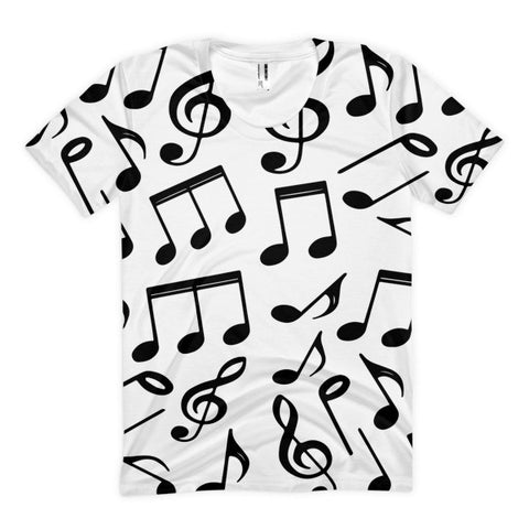 Music Notes Women's Sublimation T-shirt
