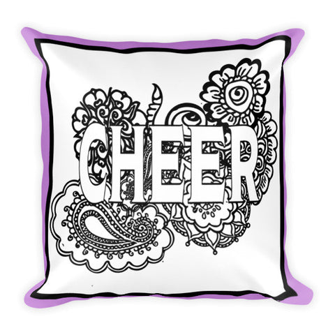 Cheer Zen Tangle Coloring  Pillow