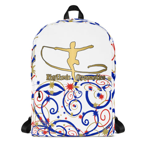 Rhythmic Gymnastics Gold Silhouette  Backpack