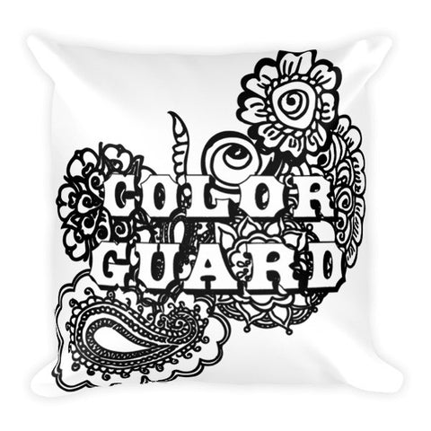 Color Guard Doodle Pillow