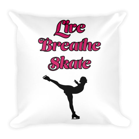 Large Decorative Pillow- Live.Breath.Sake with Silhouette