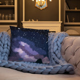Celestial Night Sky by Hxlxynxchxle Double Sided Throw Pillow