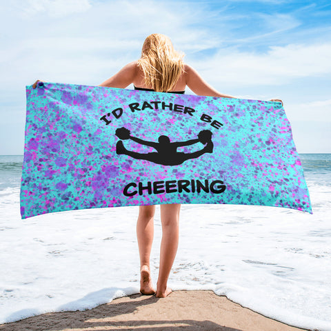 Cheer- I'd Rather Be Cheering Beach Towel