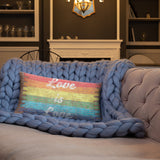 Distressed Brick Pride Flag Design- Double Sided-All-Over Print Pillow Case w/ stuffing
