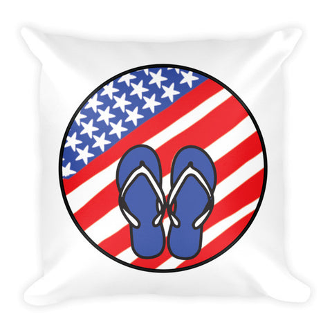 Patriotic Flip Flops Pillow