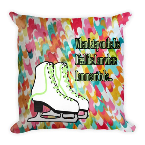 Meant To Be Figure Skating Pillow