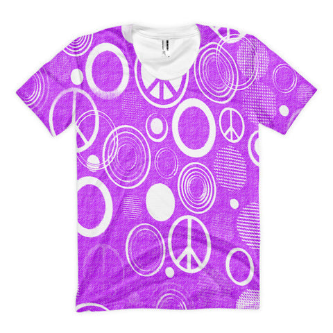 Peace Sign Women's Sublimation T-shirt