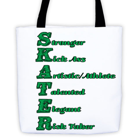 Figure Skater-Tote Bag with  What is a Skater