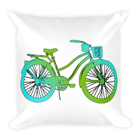 Women's Beach Cruiser Bicycle Pillow