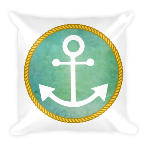 Anchor Pillow with Rope Frame