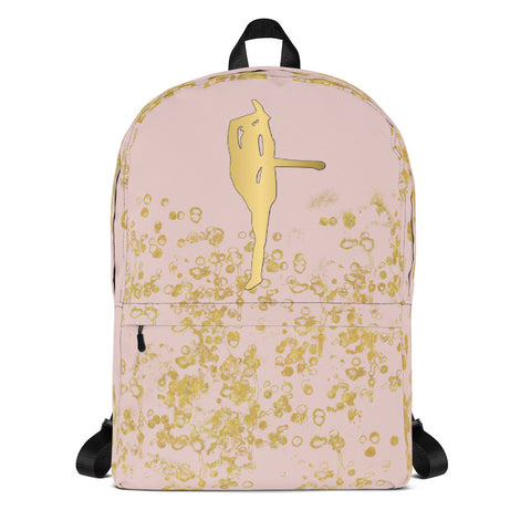 Cheer Silhouette in Gold and Pink -Backpack- Great for Cheer Teams or Squads