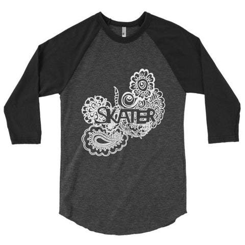 Figure Skater Zen Tangle 3/4 Sleeve Raglan Shirt