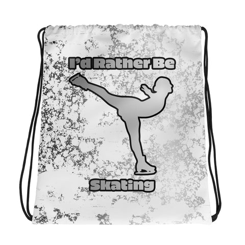 I'd Rather Be Skating Drawstring/Cinch Sak Bag