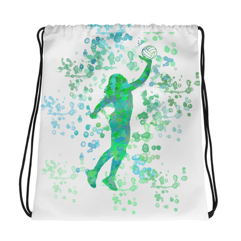 Watercolor Volleyball Design Cinch Sak- Great for Teams, Clubs, and Tournaments
