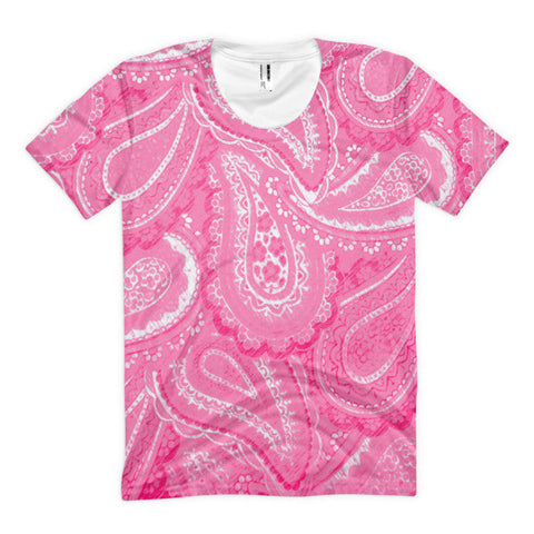 Pink Paisley Women's Sublimation T-shirt