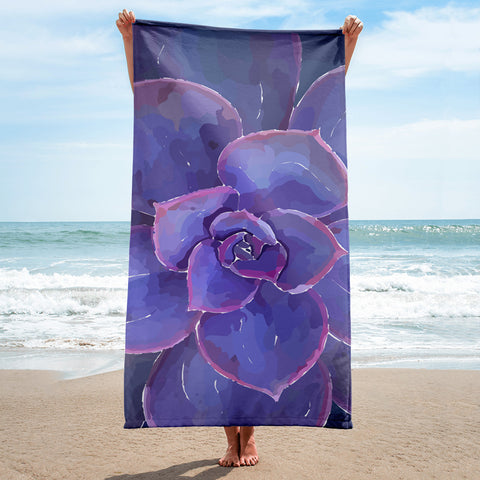 Moody Blues Succulent -by Hxlxynxchxle BeachTowel