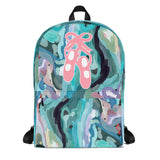 Ballet Shoes Abstract Painting Design -All-Over Print -All-Over Print Backpack