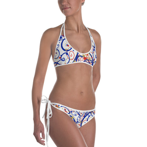 Women's Swirls and Stars - Red, White and Blue Bikini