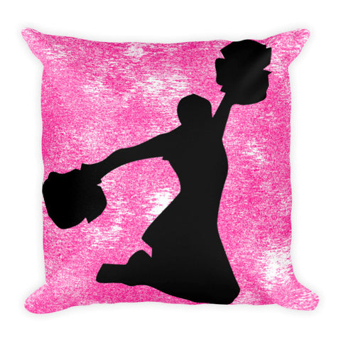 Cheerleading Silhouette Pillow