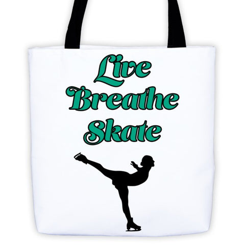 Figure Skater-Tote Bag with Live.Breath.Skate