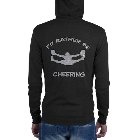 I'd Rather Be Cheering- Unisex Zip Hoodie