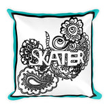 Skater Doodle Coloring  Pillow