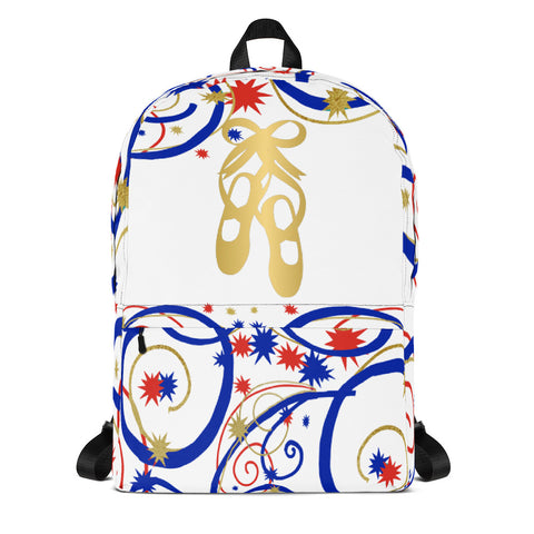 Ballet Shoes Swirls and Stars Backpack- Great for Dance Teams/Troops