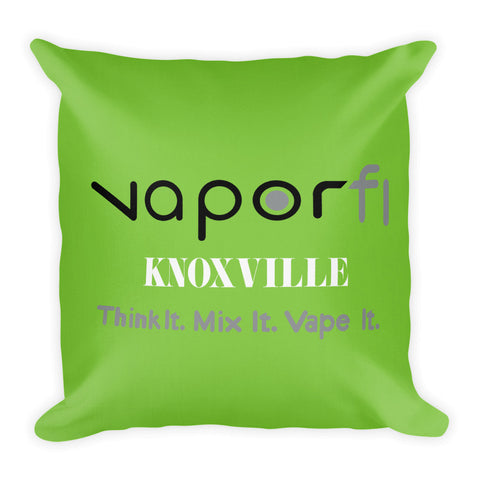 VaporFi Knoxville Green Slogan Premium Pillow
