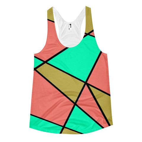 Abstract All-Over Print Women's Racerback Tank