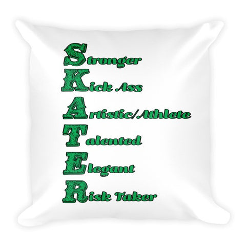 Large Decorative Pillow- What is a Skater