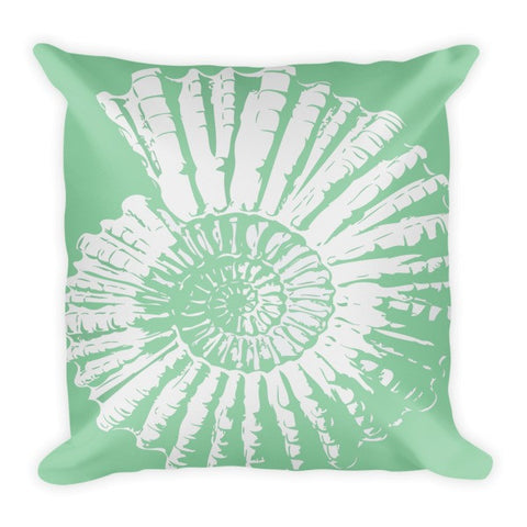 Nautilus Shell Pillow Coastal Colors