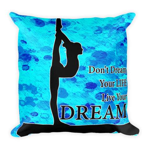 Live Your Dream Gymnastics Pillow