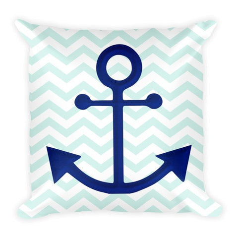 Coastal Pillow with Anchor