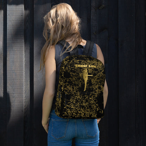 Cheer Life Black and Gold Flake Backpack