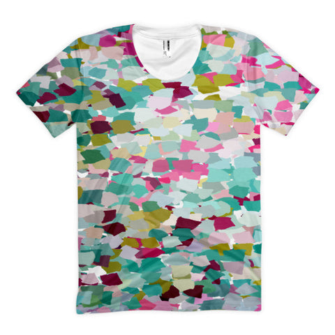 Multi-Colored Abstract-Women's Sublimation T-shirt