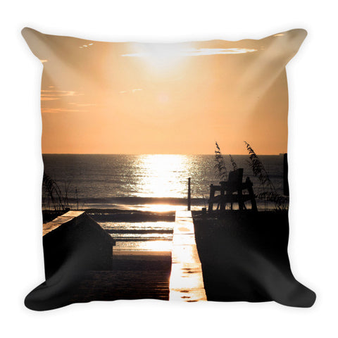 Sunrise on the Boardwalk-Pillow
