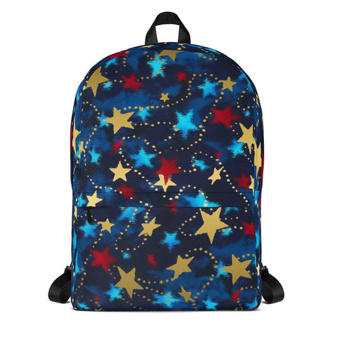 Patriotic Red, White, Blue and Gold  Backpack-Can be Customized