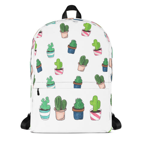 All Over Cacti Print Backpack