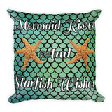 Mermaid Kisses and Starfish Wishes Pillow