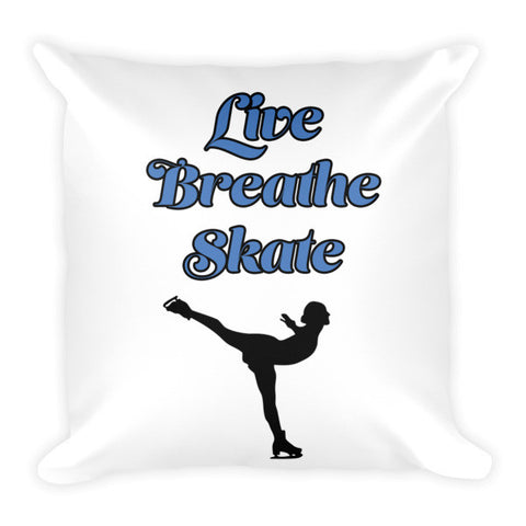 Decorative Pillow- Live Breath  Skate with Silhouette