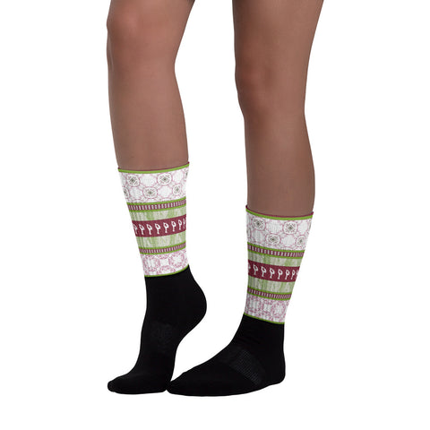 "Figure Skater ""Sweater"" Socks"