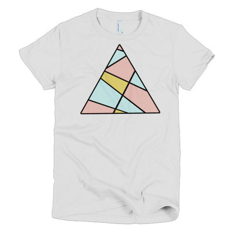 Abstract Triangle Women's Short Sleeve Tee Shirt