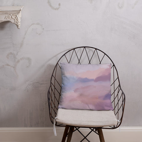 Pastel Water Color Design by Hxlxynxchxle- Double Sided Throw Pillow