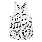 Music Notes Women's Racerback Tank