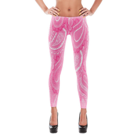 Pink Paisley Women's Leggings