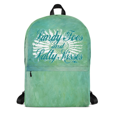 Sandy Toes and Salty Kisses Painted Water- Backpack